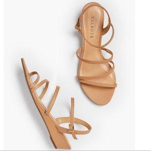 Talbots Capri Strappy Leather Sandals 8 Wide